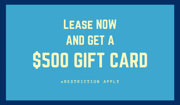 Receive a $500 GIFT CARD